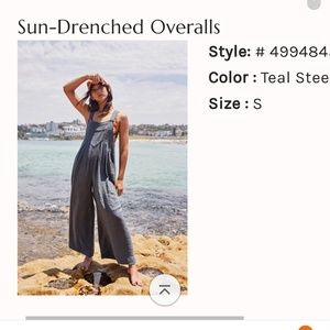 💙 NWT Free People Sun Drenched Overalls 💙